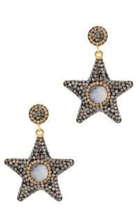 SORU Moonstone Star Earrings Preview Images
