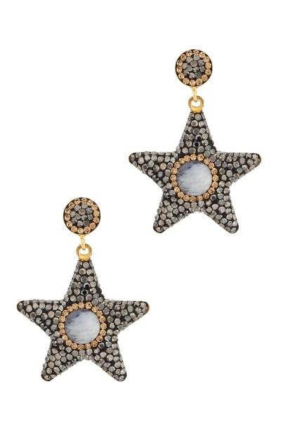 SORU Moonstone Star Earrings