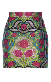 Gucci Metallic floral-jacquard mini skirt Preview Images