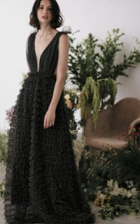 Sau Lee Catherine Polka Ruffle Gown 4 Preview Images