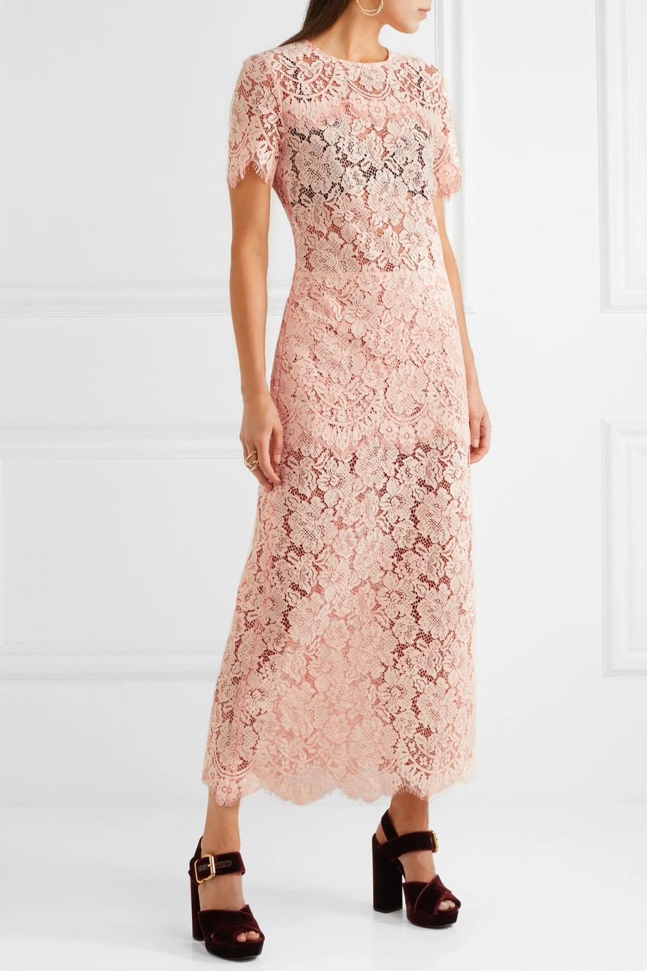 Ganni Duval corded lace midi dress 2