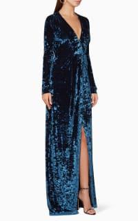 Galvan Velvet V-Neck Gown 2 Preview Images