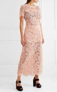 Ganni Duval corded lace midi dress 2 Preview Images