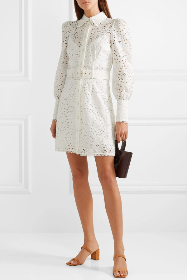Zimmermann Belted broderie anglaise mini 4