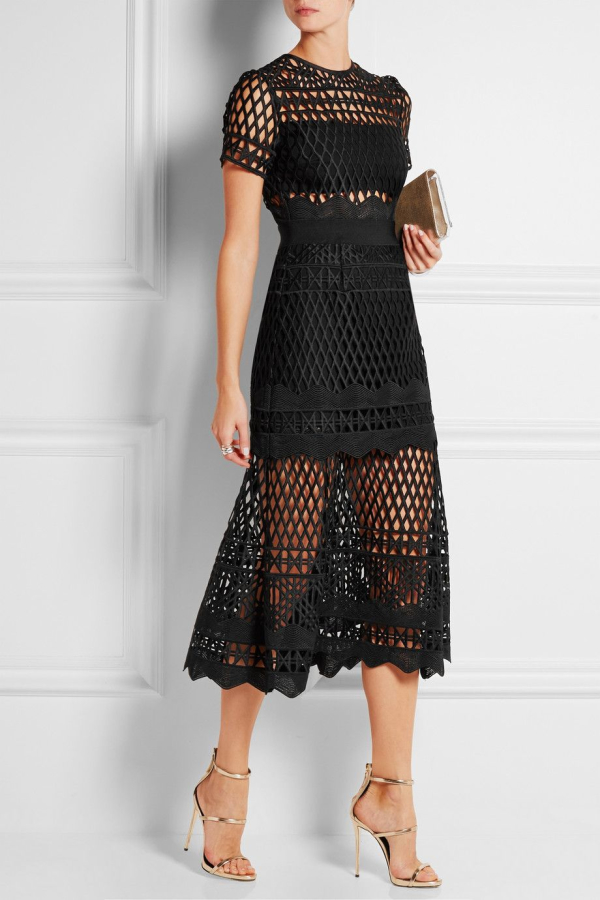 Self Portrait Guipure Lace Dress
