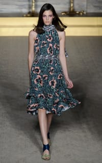 Matthew Williamson Climbing Hibiscus Silk Tie Neck Dress 3 Preview Images