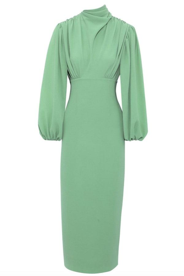 Image 1 of Emilia Wickstead gathered stretch-crepe dress