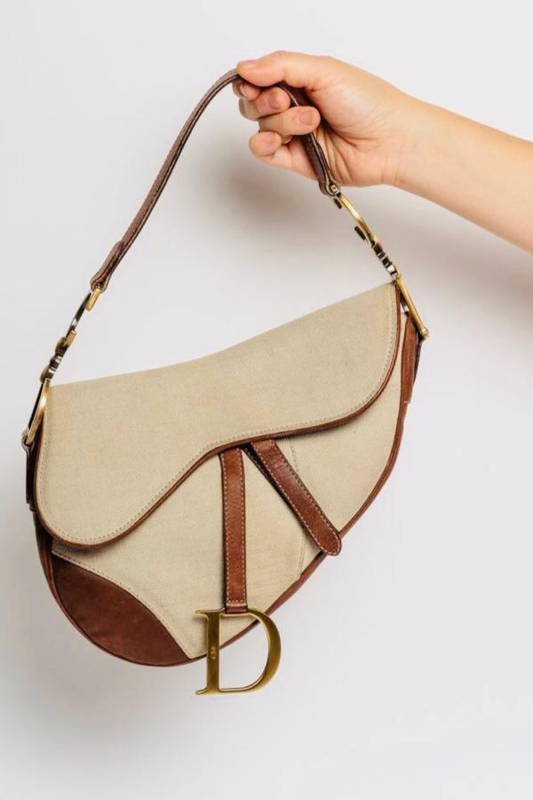 Christian Dior Canvas Saddle Bag  5