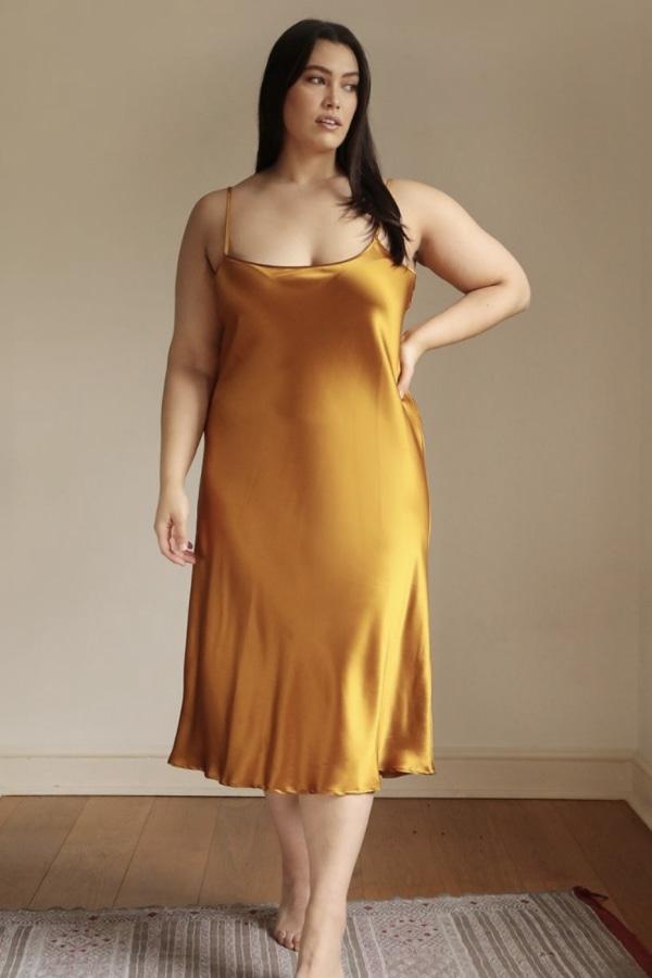 Lora Gene Midi Slip Dress 0 Preview Images