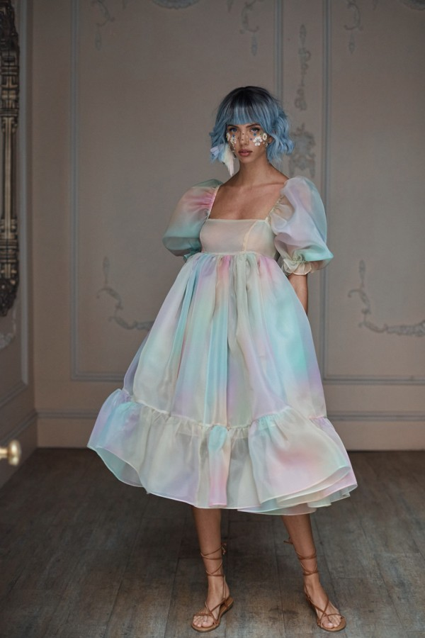 Image 2 of Selkie rainbow french puff dress