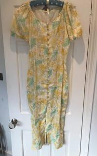 Cult Gaia Charlotte floral linen dress 3 Preview Images
