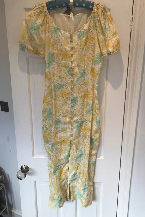 Cult Gaia Charlotte floral linen dress 3
