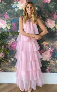 Lisou London Pink maxi ruffle dress 2 Preview Images