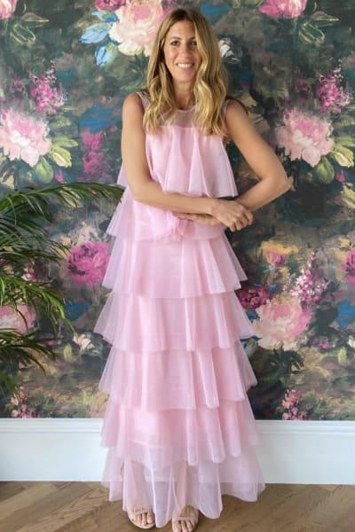 Lisou London Pink maxi ruffle dress 2