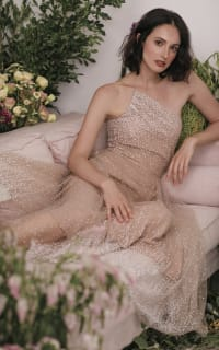 Sau Lee Blanche Ombre Tulle Midi Dress 4 Preview Images