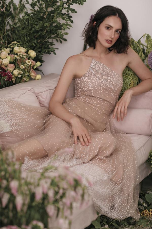 Sau Lee Blanche Ombre Tulle Midi Dress 4