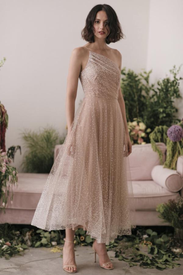 Sau Lee Blanche Ombre Tulle Midi Dress 2