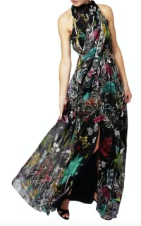 Matthew Williamson Midnight Jungle Silk Gown 2 Preview Images