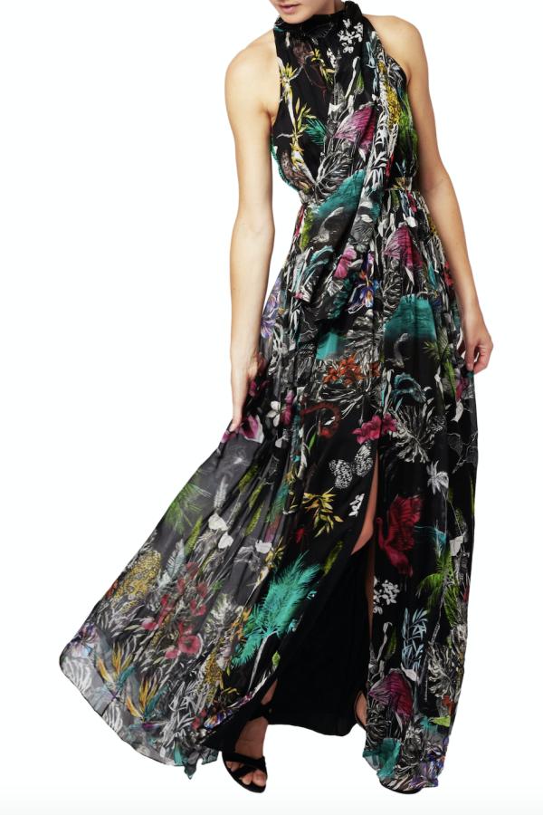 Matthew Williamson Midnight Jungle Silk Gown 2