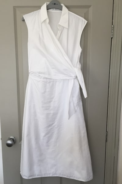 JW Anderson White Side Knot Shirt Dress