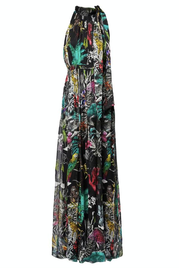 Matthew Williamson Midnight Jungle Silk Gown