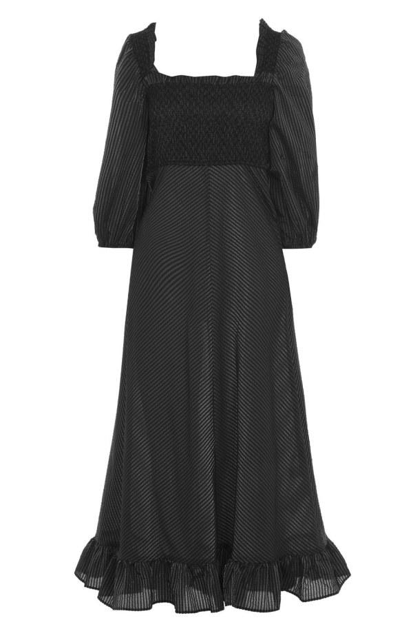 Image 1 of Ganni seersucker check dress