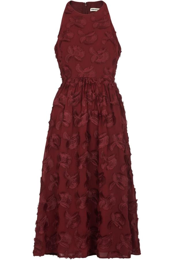 Whistles Appliqué Textured Dress