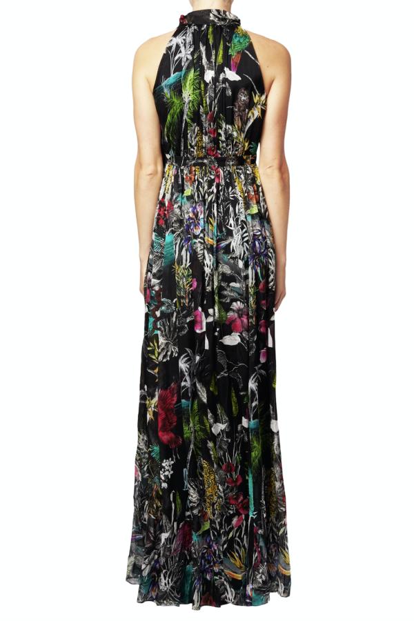 Matthew Williamson Midnight Jungle Silk Gown 3