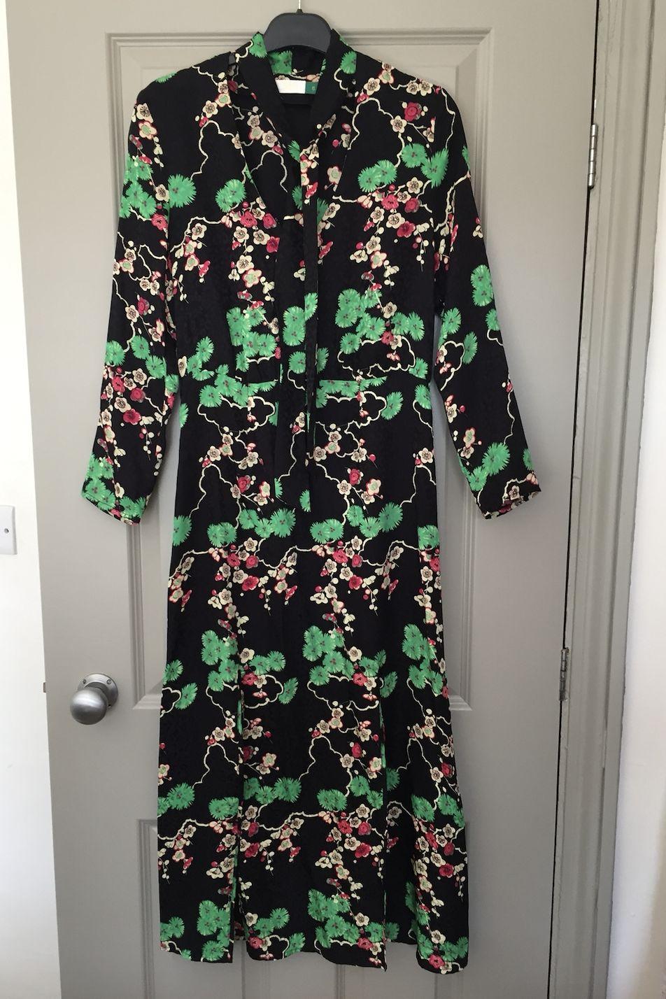RIXO London Stella printed silk-jacquard midi dress Preview Images