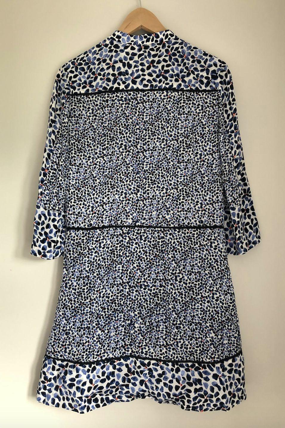 Reiss Anush Blue Floral Printed Tea Dress 5 Preview Images