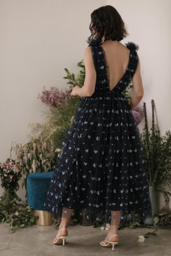 Image 2 of Sau Lee heather heart tulle dress