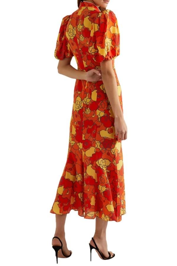 Image 4 of De La Vali bluebell floral-print dress