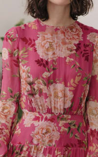Sau Lee Faith Silk Chiffon Dress 5 Preview Images