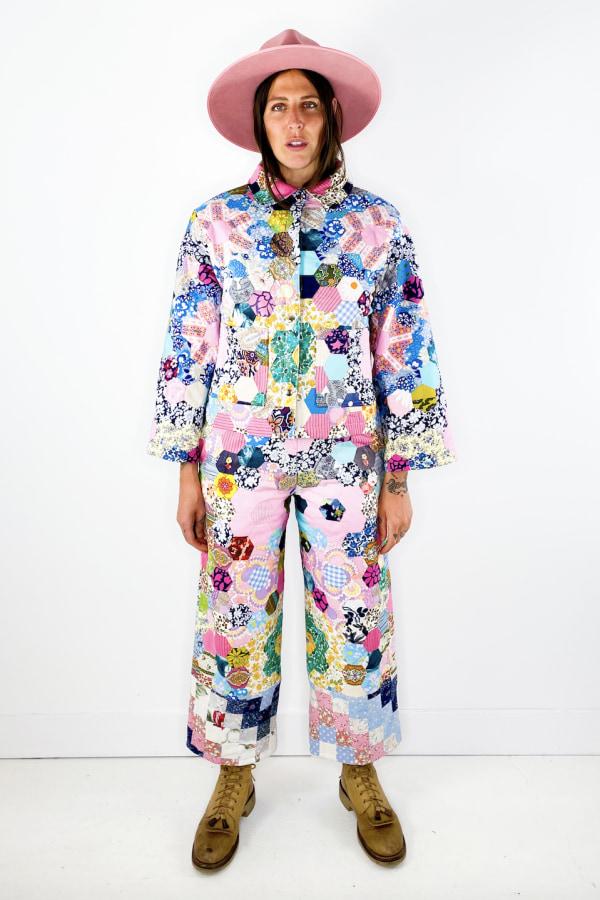 Image 2 of Magpie Vintage 1970's patchwork jacket