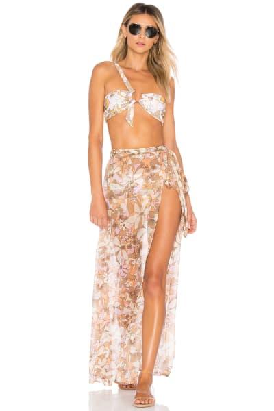 For Love and Lemons Havana Chiffon Skirt 5