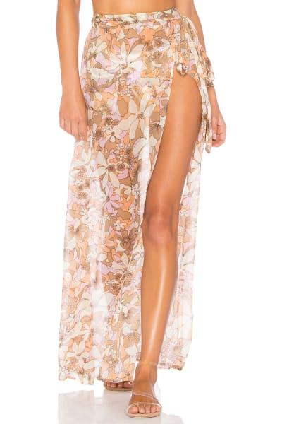 For Love and Lemons Havana Chiffon Skirt 2