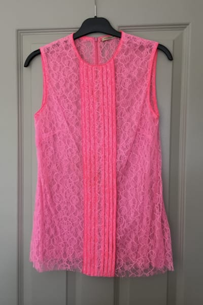 Christopher Kane Neon Lace Top 2