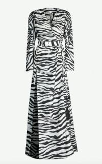 Attico Zebra-print satin-crepe dress Preview Images