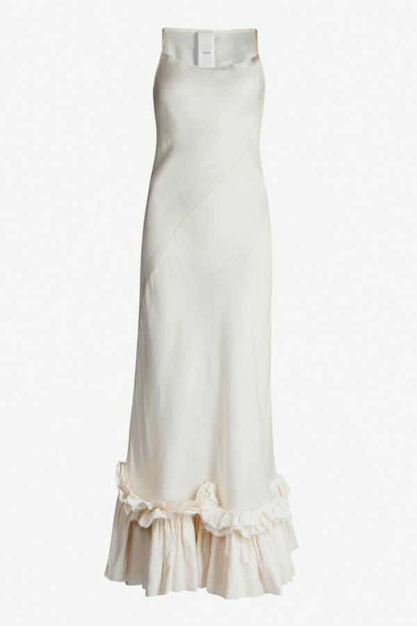 Phaedo Ruffle Hem Midi Dress