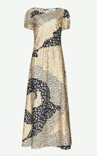 RIXO London Reese Leopard Midi Dress Preview Images