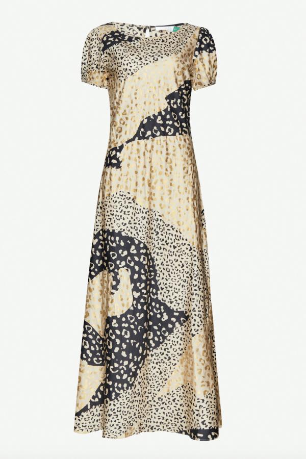 RIXO London Reese Leopard Midi Dress