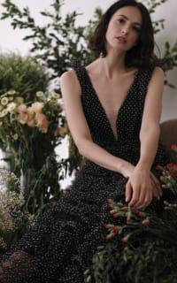 Sau Lee Catherine Polka Ruffle Gown 6 Preview Images