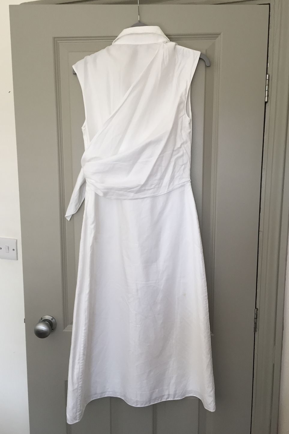 JW Anderson White Side Knot Shirt Dress 2 Preview Images