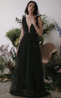Sau Lee Catherine Polka Ruffle Gown 3 Preview Images