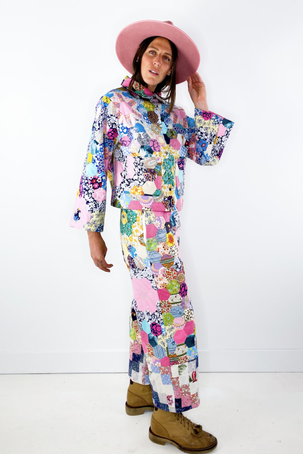 Image 3 of Magpie Vintage 1970's patchwork trousers
