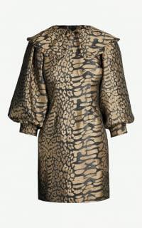 Ganni Leopard jacquard ruffle Preview Images