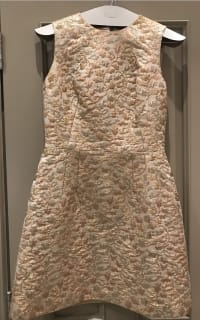 Dolce & Gabbana Metallic Embroidered Faille Dress  4 Preview Images