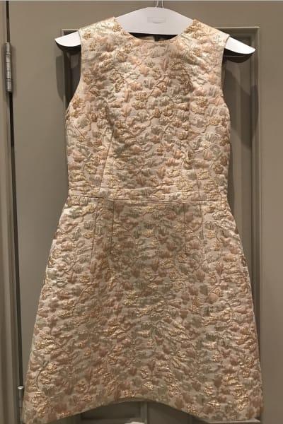Dolce & Gabbana Metallic Embroidered Faille Dress  4