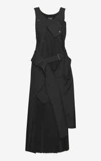 Junya Watanabe Deconstructed wool Maxi Dress Preview Images