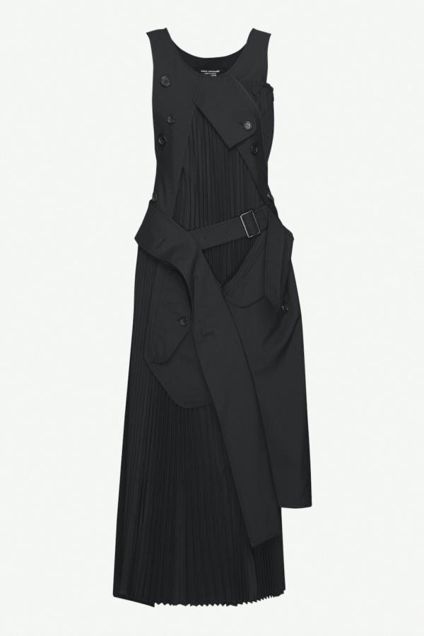 Junya Watanabe Deconstructed wool Maxi Dress